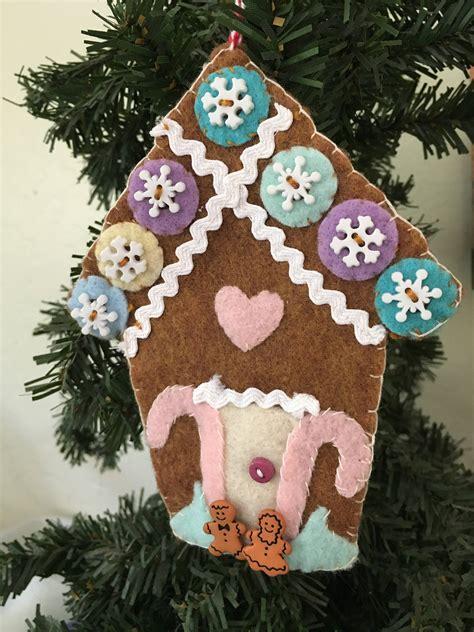 diy felt gingerbread house ornament kit felt