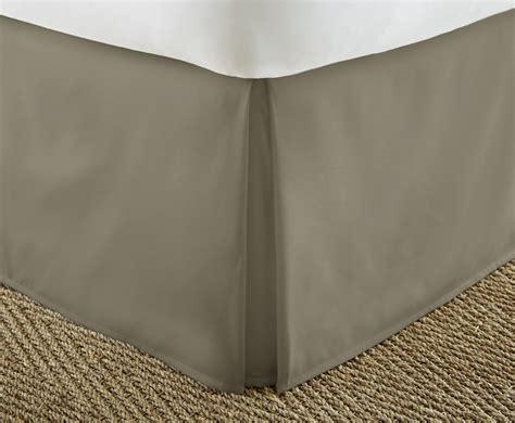 taupe bed skirt wholesale soft essentials premium pleated bed skirt dust