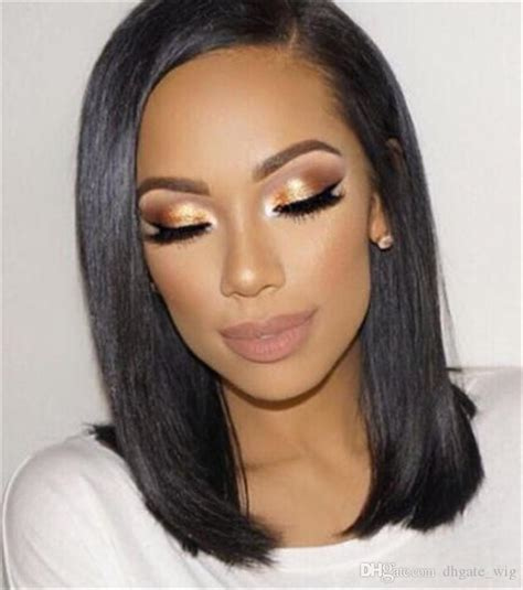 brazillan hair in short bob styles short brazilian hair wigs for black women natural color