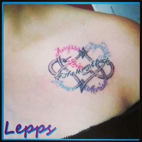 infinity tattoos with names my new dbl infinity symbol with my