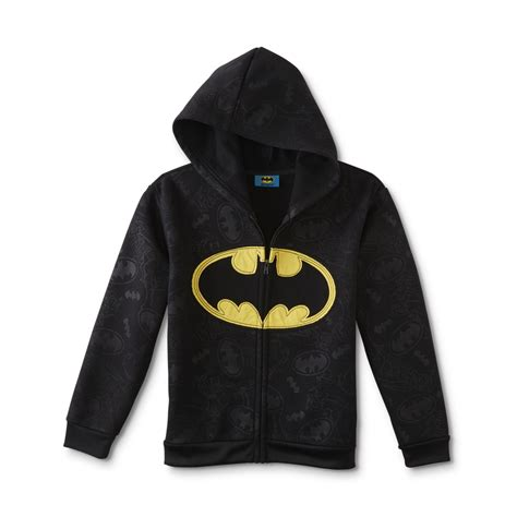 Vest Hoodie Dc Usa Lyq7 dc comics batman boys fleece hoodie jacket shop your way shopping earn points on