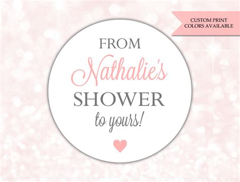 from shower to yours stickers soap labels baby shower