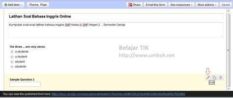 membuat soal online dengan google drive membuat quiz test online di blogspot menggunakan google