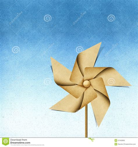 Windmill Papercraft - windmill recycled papercraft stock photo image 21342800