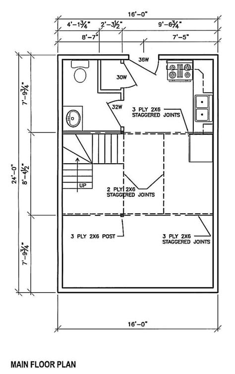 cabin layouts plans 16x24 house plans studio design gallery best design