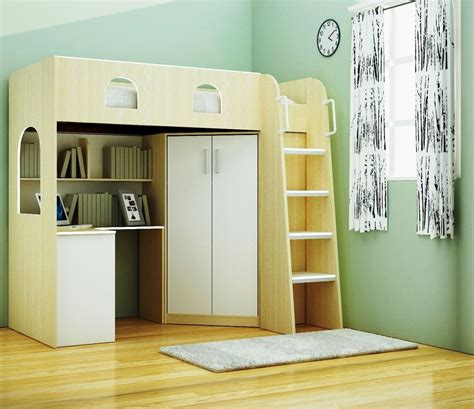 Cabin Beds With Wardrobe by Childrens High Sleeper Wood Cabin Bed Frame Light