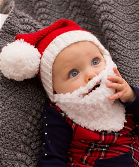 ravelry baby santa hat with beard pattern by nancy anderson
