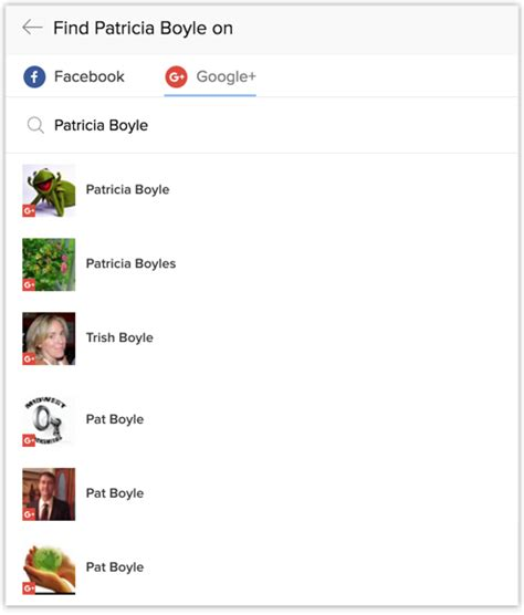 Social Profile Search Social Tab In Zoho Crm Help Zoho Crm