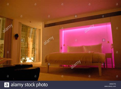 Mood Lights For Bedroom Bedroom With Colour Mood Lighting In St Martins Hotel St Martins Stock Photo 9989343 Alamy
