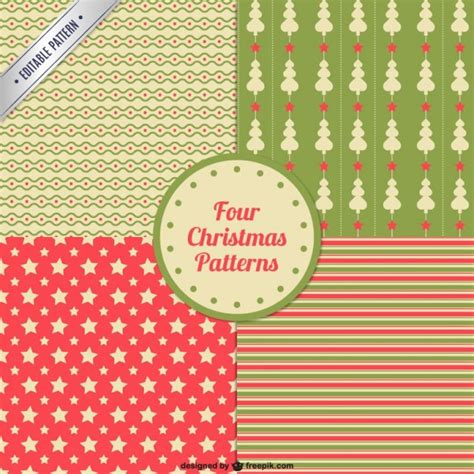 retro christmas pattern vector free vintage christmas patterns pack vector free download