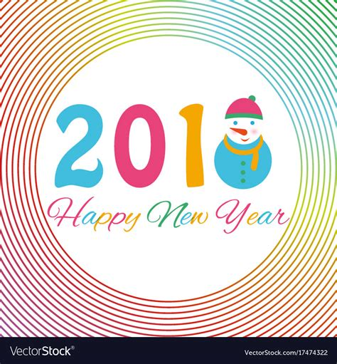happy  year  background  snowman  vector image