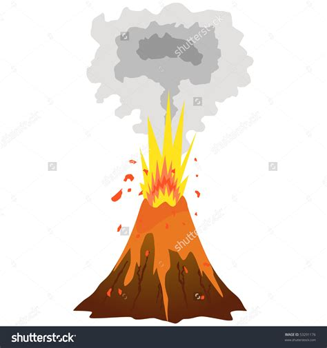 clipart volcano volcano clipart vector pencil and in color volcano