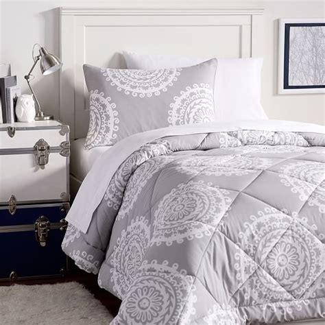 light gray comforter set medallion florette deluxe value comforter set pbteen