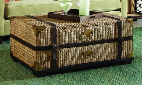 furniture wicker trunk coffee table trunk with storage