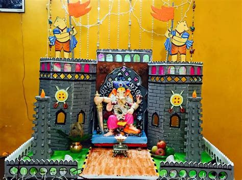ganesh decoration water fountain ideas bhagwan ji