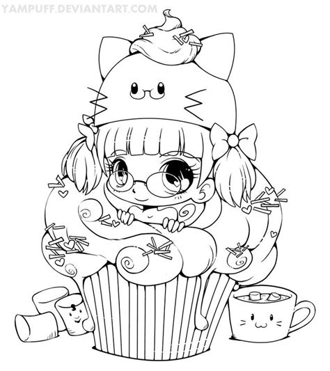 anime girl coloring nice stunning coloring pages cute coloriage coloring cupcake fille kawaii vrac pinterest