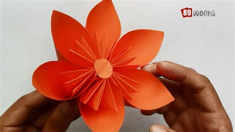 Folding Flowers Out Of Paper - origami paper folding kusudama flower