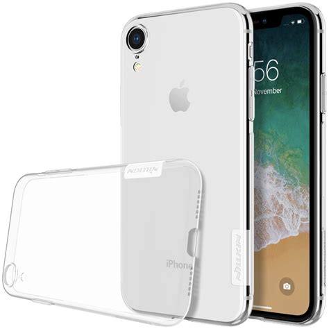 nillkin transparent soft phone for iphone xr grey