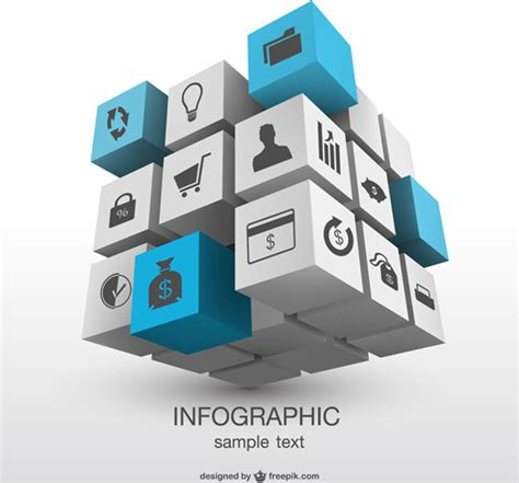 Magic Card Template Illustrator by 3d Magic Cube With Infographics Vector Free Vector In