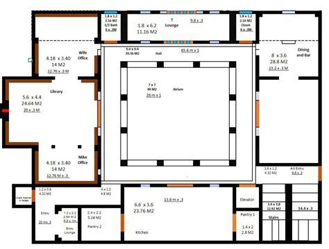 Atrium Home Plans by Atrium Floor Plan Thefloors Co