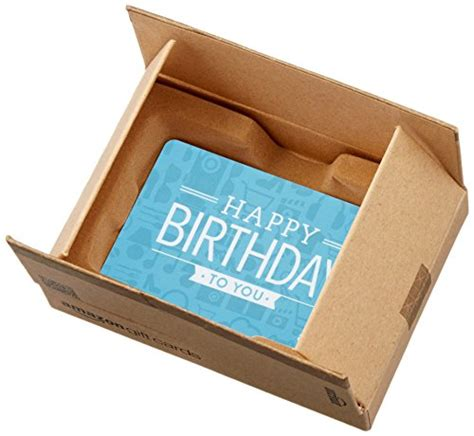 Amazon Gift Card Amounts - amazon com gift card for any amount in a mini amazon shipping box birthday icons card