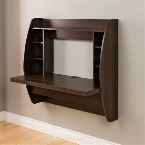 wall mounted furniture shop prepac furniture espresso wall mounted desk at lowes com