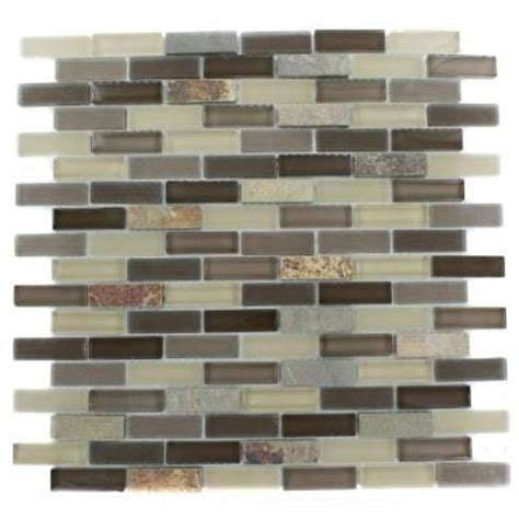 splashback tile tectonic brick multicolor slate and khaki