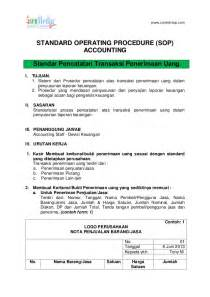 contoh sop accounting