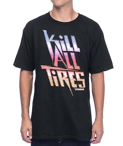 hoonigan kill all tires black t shirt at zumiez pdp