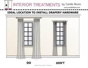 How To Properly Hang Curtains Design Dialogue September 19 2013 A Little Design Help