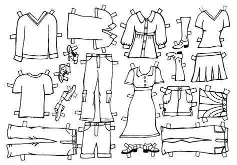 paper doll dress up template best photos of color clothes paper doll template paper