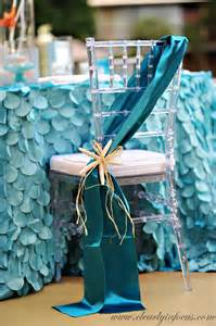 Chair Covers For Baby Shower Mermaid Party Ideas Glamorous Party Chair Chickabug