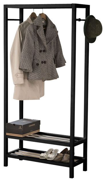Free Standing Clothing Rack by Assessories Free Standing Black White Woodend 2 Tier
