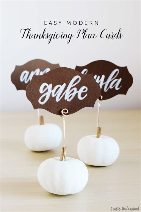 make your own thanksgiving cards diy thanksgiving place cards easy pumpkin card holders