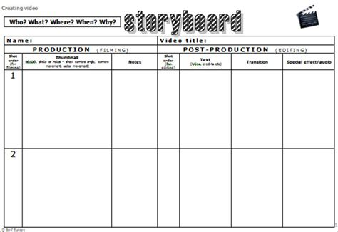 Design Storyboard Template by Storyboard Template Pdf Images Template Design Ideas