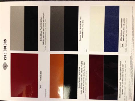 2015 harley davidson color chart autos post