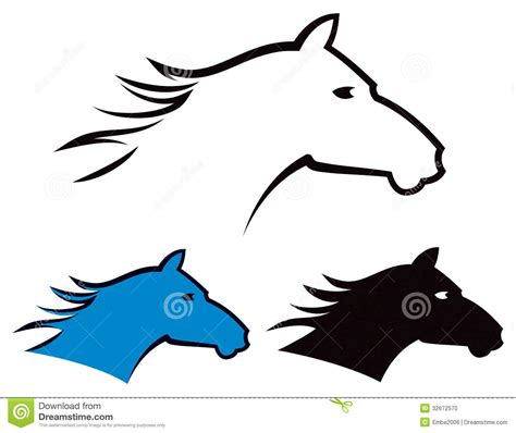 Headl Icon Black logo stock vector image of fast hair gallop