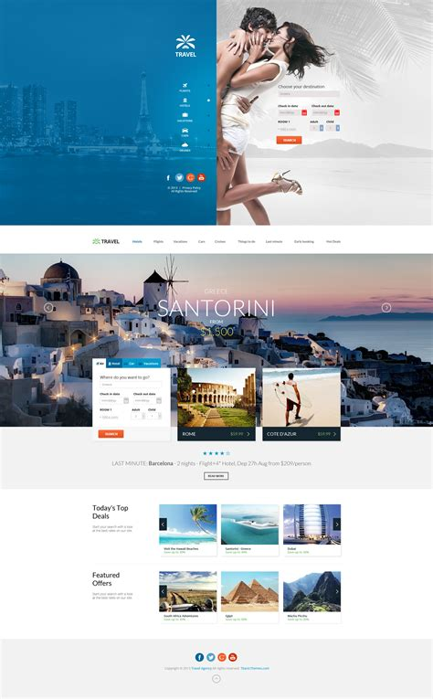 travel agency multipurpose booking psd template by