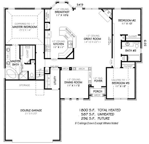1800 sq ft house plans 1800 square feet 4 bedrooms 3 batrooms 2 parking space