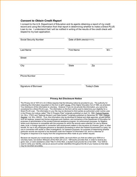 Credit Check Release Form Template 7 Credit Check Authorization Form Authorization Letter