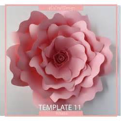 paper flowers templates paper flower template pdf flower template diy flower