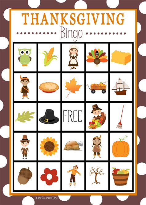 free printable thanksgiving picture cards free printable thanksgiving bingo game crazy little projects