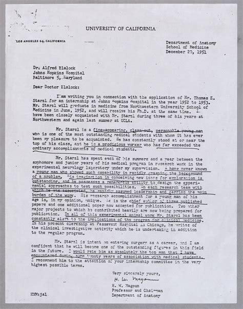 Reference Letter For Surgeon Archives Service Center Pitt Record 18 Dr Starzl S Recommendation