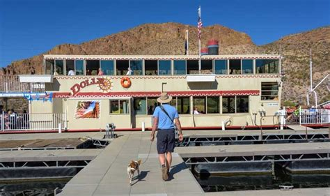 dolly boat ride dolly steamboat gliding through the arizona desert on
