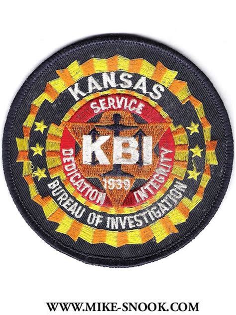 state bureau of investigations mike snook s patch collection state of kansas