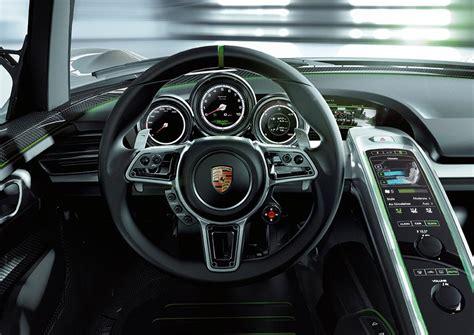 porsche 918 interior porsche 918 spyder concept