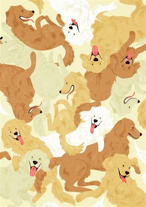 golden retriever character golden retriever karoline pietrowski illustration karoline pietrowski