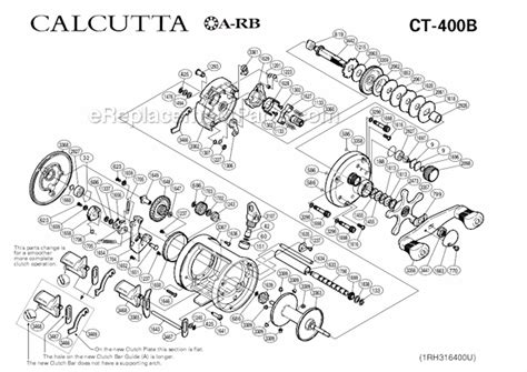 shimano calcutta 400 parts diagram shimano ct 400b parts list and diagram ereplacementparts