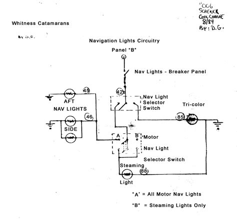 boat running light wiring diagram high pressure sodium