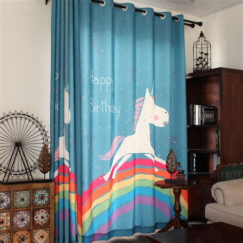 Curtains For Boy Toddler Room Aliexpress Buy New Children Curtains Lovely Rainbow Print Bedroom